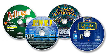 4 CD-ROM Game Software Bundle