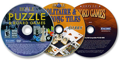 3 Disc Set (Hoyle Puzzle and Board Games /Hoyle Solitaire and Mahjong Tiles /Hoyle Word Games)