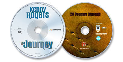 2 DVD Set (Kenny Rogers: The Journey DVD / 20 Country Legends DVD)