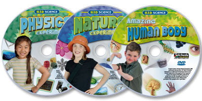 3 DVD Kid Science Experiments set (Physics /Nature /Amazing Human Body)