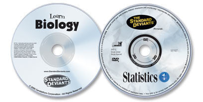 2 DVD Set (Learn Biology /Statistics 1)