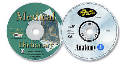 2 Disc Set (Interactive Medical Dictionary CD-ROM /Anatomy 1 DVD)