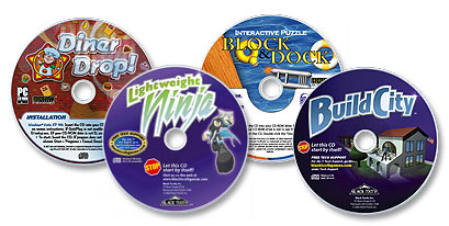 4 CD-ROM Set (Lightweight Ninja /Diner Drop! /Block & Dock /Build City)