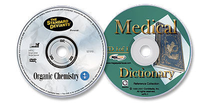 2 Disc Set (Organic Chemistry DVD /Interactive Medical Dictionary CD-ROM)