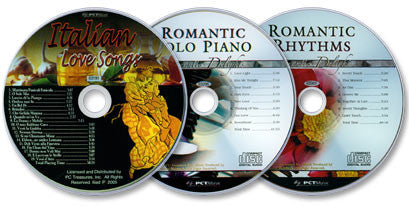 Romantic Delights 3 Audio CD Set: Italian Love Songs/ Romantic Solo Piano/ Romantic Rhythms