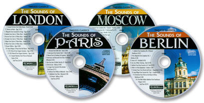 City Music 4 Audio CD Set (The Sounds of London /Paris /Berlin /Moscow)