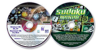 2 CD-ROM Set (Trivia Hunter /Sudoku Mania)
