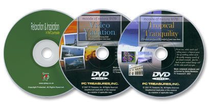 3 DVDs (Tropical Tranquility /Video Vacation /Relaxation & Inspiration: In the Countryside)