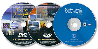 3 DVDs (Tropical Tranquility/Video Vacation/Relaxation & Inspiration: By the Sea)