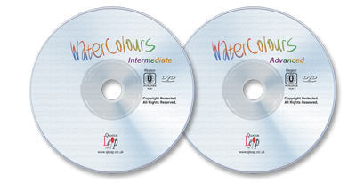 2 Watercolors DVDs (Intermediate & Advanced)