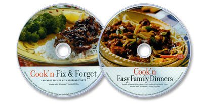 2 CD-ROM Set (Easy Family Dinners /Fix & Forget)