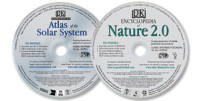 2 CD-ROM Set (Atlas of the Solar System /Encyclopedia of Nature 2.0)