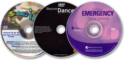 3 Discs (The Ult. Emergency Dance Lessons & Disc. Dance: Ballroom DVDs/Learn to Dance Swing CD-ROM)