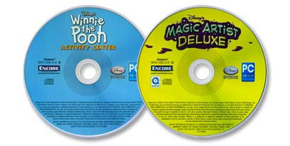 2 CD-ROM Set (Disney's Magic Artist Deluxe /Disney's Winnie the Pooh Activity Center)