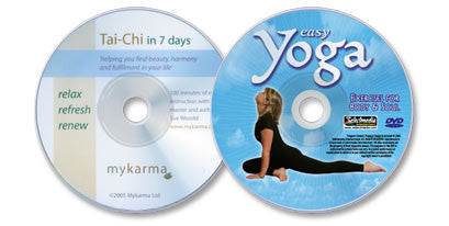 (2 DVD Set) Tai Chi in 7 Days /Easy Yoga