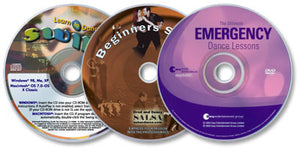 3 Disc Set (The Ultimate Emergency Dance Lessons /Beginner's Salsa DVD /Learn to Dance Swing)