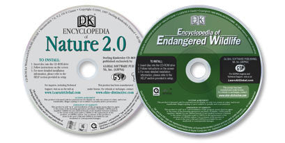 2 CD-ROMs (Encyclopedia of Endangered Wildlife /Encyclopedia of Nature)