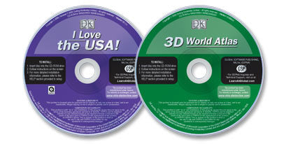 2 CD-ROM set (3D World Atlas /I Love the USA)