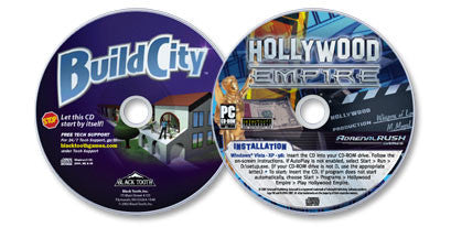 2 CD-ROM Set (Hollywood Empire /Build City)