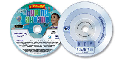 2 CD-ROM Typing Set (Key Advantage Typing /Typing Arcade)