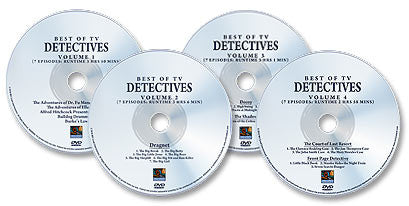 (4 DVD Set) Best of TV Detectives: Vol 1, Vol 2, Vol 3, and Vol 4