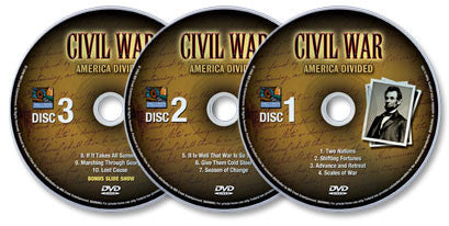 Civil War - America Divided 3 DVD Set