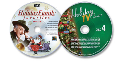 2 DVD Set (Holiday TV Classics Disc 4 /Holiday Family Favorites Disc 4)