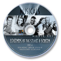 Classic Movie Musicals: Legends of the Stage & Screen #4 - Fred Astaire, the Dorsey Brothers… DVD