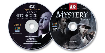 2 DVD Set (Classic Mystery Movies DVD /Alfred Hitchcock Classics Disc 4)