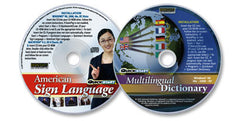 2 CD-ROM Set (Multilingual Dictionary /Quickstart American Sign Language)