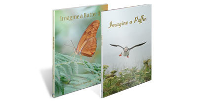 2 Books (Imagine a Butterfly /Imagine a Puffin)