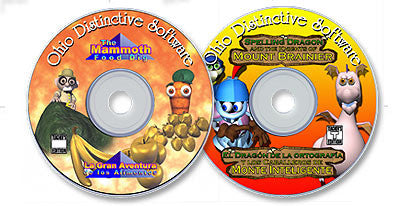 2 CD-ROM Set (The Mammoth Food Dig /Spelling Dragon and the Knights of Mt. Brainier)