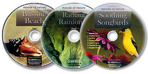 3 Audio CD Set (Soothing Songbirds /Blissful Beach /Radiant Rainforest)