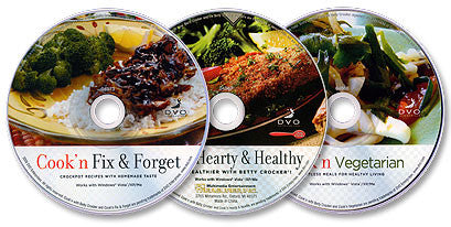 3 CD-ROM Set (Cook'n Fix & Forget /Cook'n Hearty & Healthy /Cook'n Vegetarian)