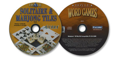 2 CD-ROM Set (Hoyle Solitaire and Mahjong Tiles /Hoyle Word Games)