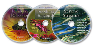 Moods of Nature 3 Audio CD Set (Serene Streams /Soothing Songbirds /Rainforest)