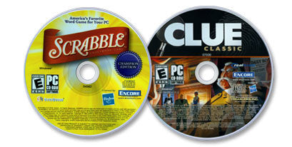 2 CD-ROM Set (Scrabble® Champion Edition /Clue)