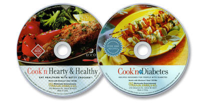 2 CD-ROM Set (Cook'n for Diabetes / Betty Crocker Cook'n Hearty & Healthy)