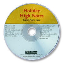 Holiday High Notes: Light Piano Jazz (Audio CD)