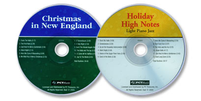 2 Audio CD Set (Holiday High Notes: Light Piano Jazz /Christmas in New England)