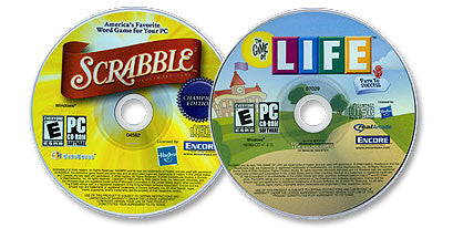 2 CD-ROM Set (Scrabble® Champion Edition /The Game of Life)