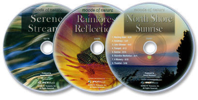 Moods of Nature 3 Audio CD Set (Rainforest Reflections /North Shore Sunrise /Serene Streams)