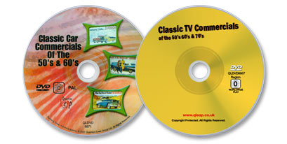 2 DVD Set (Classic Car Commercials of the 50s and 60s /TV Commercials of the 50s, 60s, and 70s)