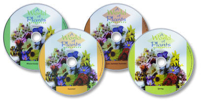4 DVD A World of Plants set (Winter & Early Spring, Spring, Summer, and Late Summer & Autumn)