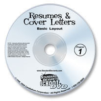 Resumes & Cover Letters 1: Basic Layout DVD