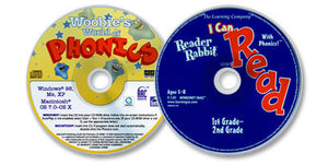 (2 CD-ROM Set) Reader Rabbit: I Can Read with Phonics! /Woobie's World of Phonics