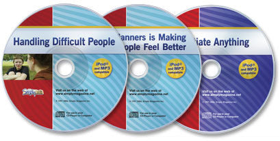 3 Audio CD Set (Handling Difficult People/Good Manners/Negotiate Anything)