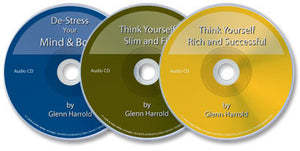 3 Audio CDs (Think Yourself Rich and Successful /Think Yourself Slim and Fit /De-Stress Your Mind)