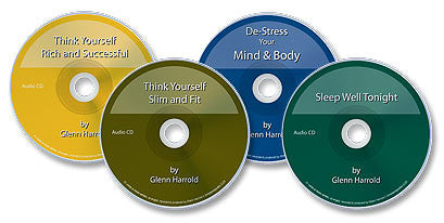4 Audio CDs (Think Yourself: Rich & Successful/Slim & Fit /De-Stress Your Mind /Sleep Well Tonight)
