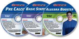 3 CD-ROM Set (Algebra Booster/Basic Statistics/Pre-Calculus)